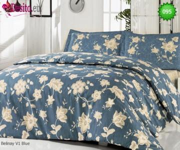 Семеен спален комплект с два плика 095 Belinay V1 Blue
