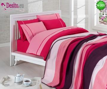 Спален комплект с плетено одеало N-205