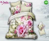 3D Спално бельо от памучен сатен - 5028