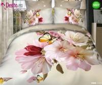 3D Спално бельо от памучен сатен - 5027