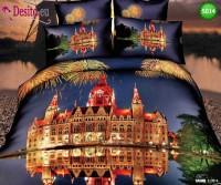 3D Спално бельо от памучен сатен - 5014