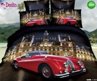 3D Спално бельо от памучен сатен - 5009