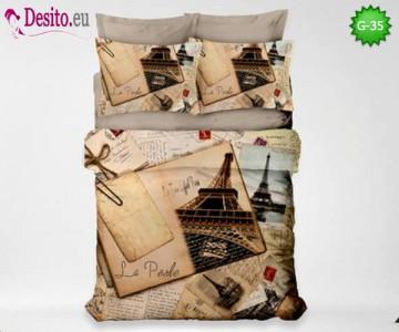 3D Спално бельо от памучен сатен - G-35