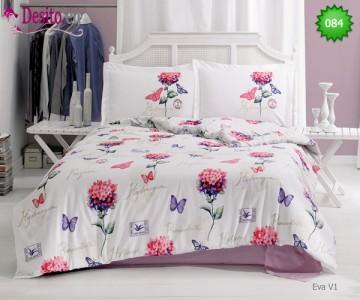 Семеен спален комплект с два плика 084 Eva V1