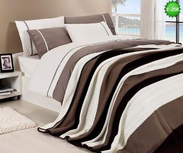 Двулицево единично спално бельо с одеало Е-208