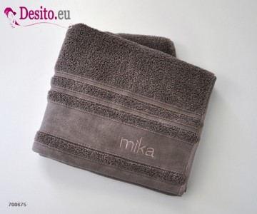 Хавлиени кърпи Мика - тъмно бежаво