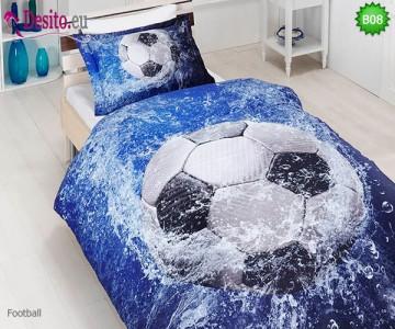 3D Единичен спален комплект B08 Football