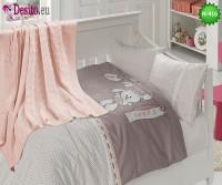Детско спално бельо с плетено одеяло N-416