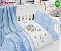 Детско спално бельо с плетено одеяло N-406