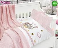 Детско спално бельо с плетено одеяло N-405