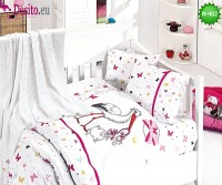 Детско спално бельо с плетено одеяло N-402
