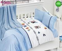 Детско спално бельо с плетено одеяло N-401
