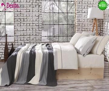 Спален комплект с плетено одеало N-221