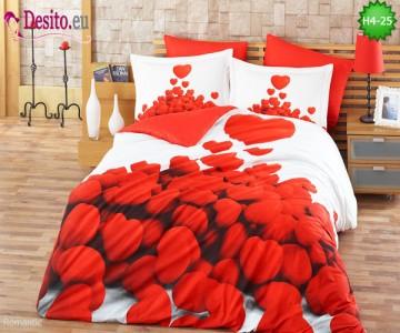 3D спално бельо от памучен сатен H4-25