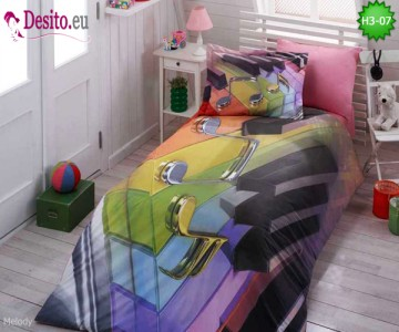 3D Единично спално бельо H3-07