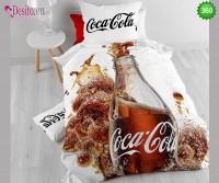 Единично сплано бельо Coca Cola 360