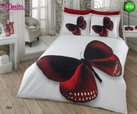 3D Памучен Сатен 55 Red Butterfly