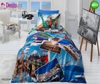 3D Единичен спален комплект B018 Holiday