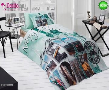 3D Единичен спален комплект B026 Freedom