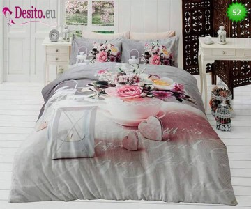 3D спално бельо от памучен сатен 52