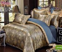 Луксозно спално бельо от памук-сатен с жакард 10-84