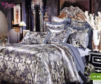 Луксозно спално бельо от памук-сатен с жакард 10-86