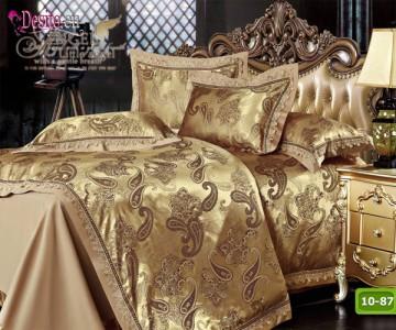 Луксозно спално бельо от памук-сатен с жакард 10-87
