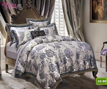 Луксозно спално бельо от памук-сатен с жакард 10-89
