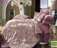 Луксозно спално бельо от памук-сатен с жакард 10-90