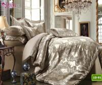 Луксозно спално бельо от памук-сатен с жакард 10-91