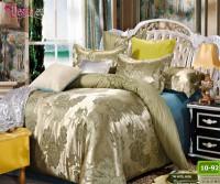 Луксозно спално бельо от памук-сатен с жакард 10-92