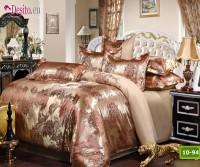 Луксозно спално бельо от памук-сатен с жакард 10-94