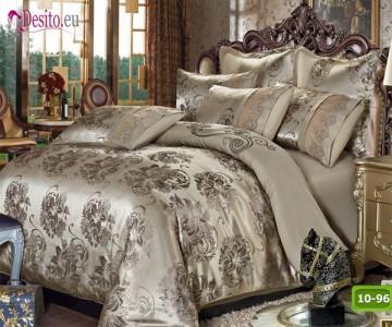 Луксозно спално бельо от памук-сатен с жакард 10-96
