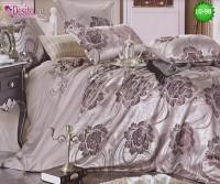 Луксозно спално бельо от памук-сатен с жакард 10-98