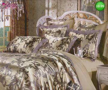 Луксозно спално бельо от памук-сатен с жакард 10-99