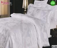 Луксозно спално бельо от памук-сатен с жакард 10-82