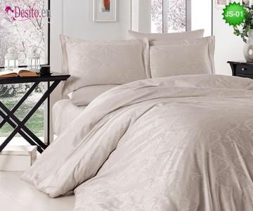 Луксозно спално бельо от памук-сатен с жакард JS-01