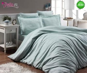 Луксозно спално бельо от памук-сатен с жакард JS-02