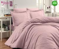 Луксозно спално бельо от памук-сатен с жакард JS-06