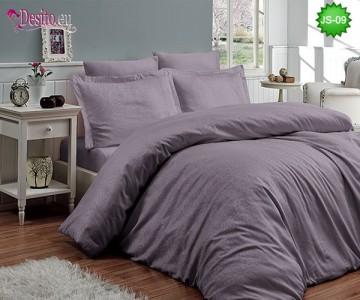 Луксозно спално бельо от памук-сатен с жакард JS-09