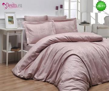 Луксозно спално бельо от памук-сатен с жакард JS-11