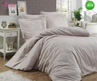 Луксозно спално бельо от памук-сатен с жакард JS-18