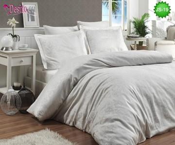Луксозно спално бельо от памук-сатен с жакард JS-19