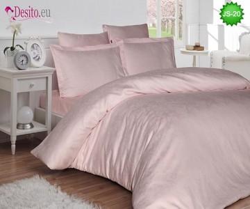 Луксозно спално бельо от памук-сатен с жакард JS-20