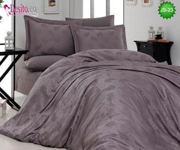 Луксозно спално бельо от памук-сатен с жакард JS-23