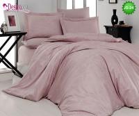 Луксозно спално бельо от памук-сатен с жакард JS-24