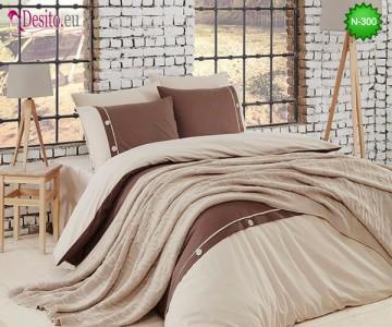 Спален комплект с плетено одеало N-300