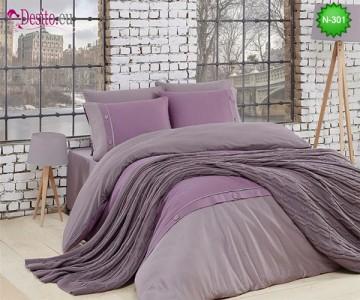 Спален комплект с плетено одеало N-301