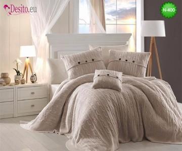 Спален комплект с плетено одеало N-400