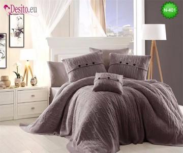Спален комплект с плетено одеало N-401